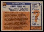 1976 Topps #356  Garry Puetz  Back Thumbnail