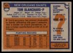 1976 Topps #431  Tom Blanchard  Back Thumbnail
