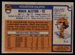 1976 Topps #293  Mack Alston  Back Thumbnail