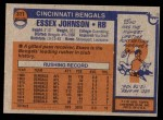 1976 Topps #311  Essex Johnson  Back Thumbnail