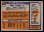1976 Topps #320  Riley Odoms  Back Thumbnail