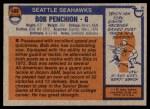 1976 Topps #408  Bob Penchion  Back Thumbnail
