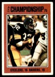 1976 Topps #332   -  Franco Harris AFC Champs Front Thumbnail