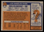1976 Topps #373  Cullen Bryant   Back Thumbnail