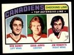 1976 O-Pee-Chee NHL #217   -  Bob Gainey / Doug Jarvis / Jim Roberts Checking Line Front Thumbnail