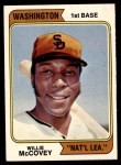 1974 Topps #250 WAS Willie McCovey  Front Thumbnail