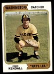 1974 Topps #53 WAS Fred Kendall  Front Thumbnail