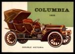 1954 Topps World on Wheels #146   Columbia Double Victoria 1906 Front Thumbnail