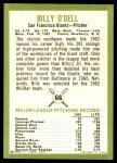 1963 Fleer #66  Billy O'Dell  Back Thumbnail