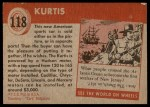 1954 Topps World on Wheels #118   Kurtis Back Thumbnail
