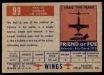 1952 Topps Wings #99   YAK-15 Back Thumbnail