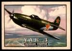 1952 Topps Wings #87   YAK-3 Front Thumbnail
