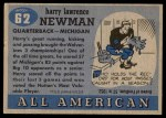 1955 Topps #62  Harry Newman  Back Thumbnail