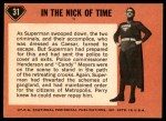 1966 Topps Superman #31   In the Nick of Time Back Thumbnail