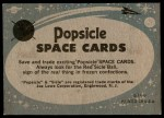 1963 Topps Astronaut Popsicle #6   Space Explorers Back Thumbnail