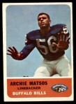 1962 Fleer #20  Archie Matsos  Front Thumbnail