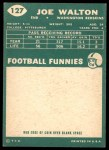 1960 Topps #127  Joe Walton  Back Thumbnail