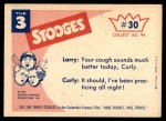 1959 Fleer Three Stooges #30   This One's in the Bag.  Back Thumbnail