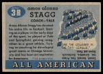 1955 Topps #38  Amos Alonzo Stagg  Back Thumbnail