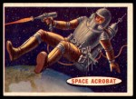 1957 Topps Space Cards #25   Space Acrobat  Front Thumbnail