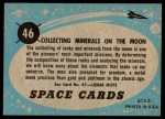 1957 Topps Space Cards #46   Collecting Minerals on the Moo Back Thumbnail