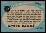 1957 Topps Space Cards #37   High Jumping on the Moon Back Thumbnail
