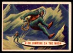 1957 Topps Space Cards #37   High Jumping on the Moon Front Thumbnail