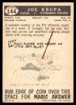 1959 Topps #144  Joe Krupa  Back Thumbnail