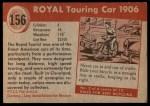 1954 Topps World on Wheels #156   Royal Touring Car Back Thumbnail