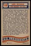 1956 Topps U.S. Presidents #18  James Buchanan  Back Thumbnail
