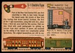 1955 Topps Rails & Sails #4   S-1 Electric Type Back Thumbnail