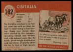 1954 Topps World on Wheels #102   Cisitalia Back Thumbnail