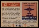 1952 Topps Wings #73   H-19 Back Thumbnail