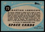 1957 Topps Space Cards #73   Martian Landscape Back Thumbnail