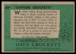 1956 Topps Davy Crockett #49 GRN  Capture Crockett Back Thumbnail