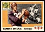 1955 Topps #20  Sammy Baugh  Front Thumbnail
