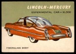 1954 Topps World on Wheels #71   Lincoln-Mercury XL-500 Front Thumbnail