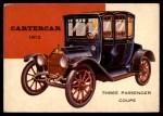 1954 Topps World on Wheels #141   Cartercar Three Passenger Front Thumbnail