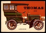 1954 Topps World on Wheels #142   Thomas Limousine 1905 Front Thumbnail