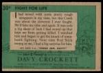1956 Topps Davy Crockett #30 GRN  Fight For Life  Back Thumbnail