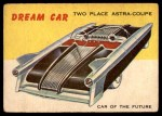1954 Topps World on Wheels #50   Two Place Astra-Coupe Front Thumbnail
