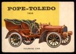 1954 Topps World on Wheels #153   Pope-Toledo Touring Car 1904 Front Thumbnail