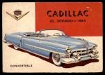 1954 Topps World on Wheels #74   Cadillac Eldorado 1953 Front Thumbnail
