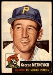 1953 Topps #58  George Metkovich  Front Thumbnail