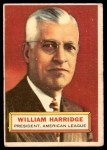 1956 Topps #1  William Harridge  Front Thumbnail
