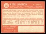 1964 Topps #212  Pete Lovrich  Back Thumbnail
