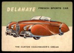 1954 Topps World on Wheels #67   Delahaye Front Thumbnail