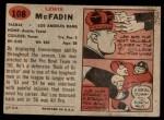 1957 Topps #108  Lewis McFadin  Back Thumbnail