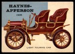 1954 Topps World on Wheels #160   Haynes Apperson Touring Car 1905 Front Thumbnail