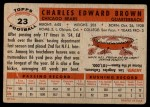 1956 Topps #23  Ed Brown  Back Thumbnail